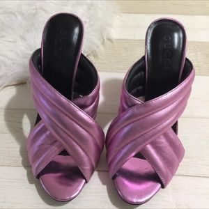 Gucci pink mules shoes